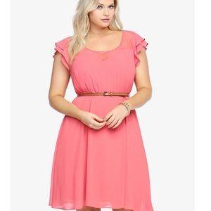 Torrid ruffle chiffon dress